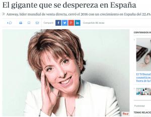Amway sigue creciendo en España.