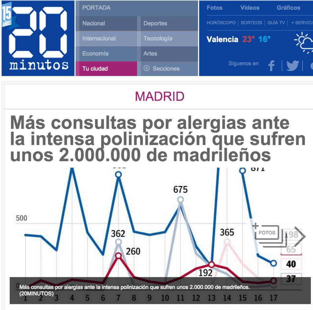prensa crecimiento de las alergias