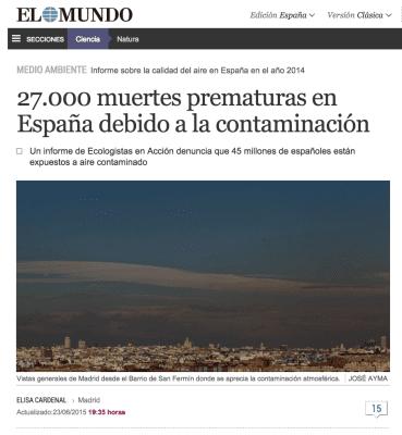 contaminación El mundo