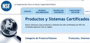 Organizaciones internacionales sobre el filtrado de agua